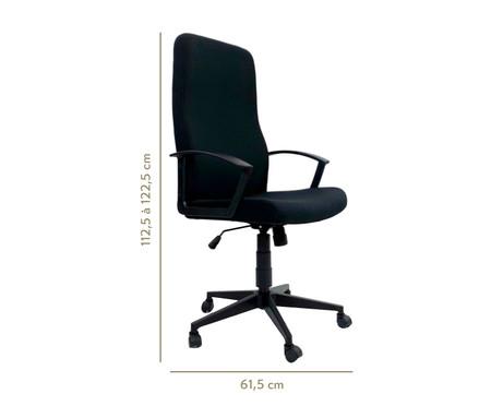 Cadeira de Escritório com Rodízio Coraniv - Preto | WestwingNow