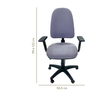 Cadeira de Escritório Vrotz - Cinza | WestwingNow