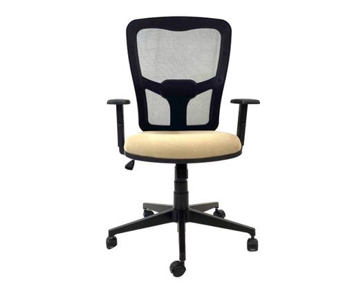 Cadeira de Escritório Porim - Bege, Preto | WestwingNow