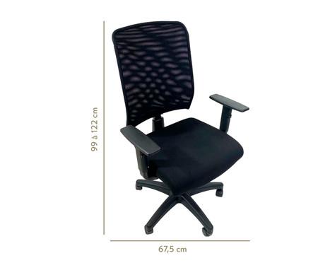Cadeira de Escritório com Rodízio Priviette - Preto | WestwingNow