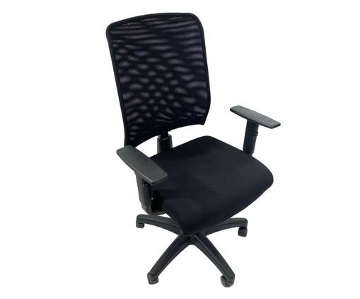 Cadeira de Escritório com Rodízio Priviette - Preto, Preto | WestwingNow