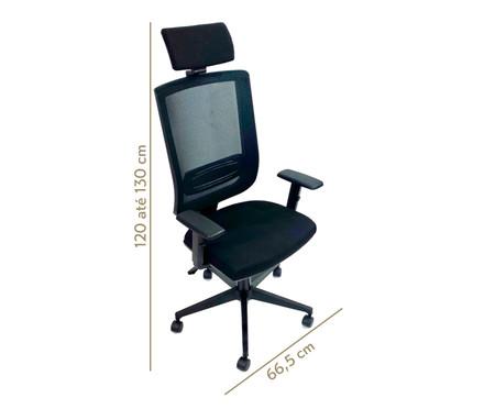 Cadeira de Escritório Vizzonta Alta - Preto | WestwingNow