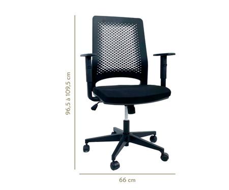 Cadeira de Escritório Ease - Preto | WestwingNow