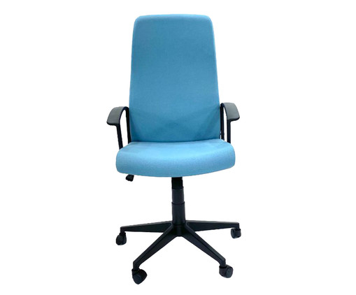 Cadeira de Escritório com Rodízio Coraniv - Azul, Preto | WestwingNow