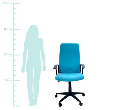 Cadeira de Escritório com Rodízio Coraniv - Azul | WestwingNow