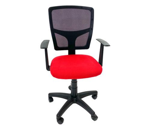 Cadeira de Escritório Vienart - Vermelha, Preto | WestwingNow