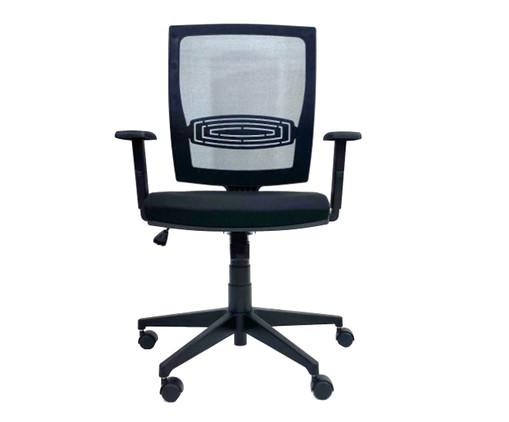 Cadeira de Escritório com Rodízio Oits - Preto, Preto | WestwingNow