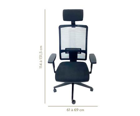 Cadeira de Escritório com Rodízio Macorine - Preto | WestwingNow
