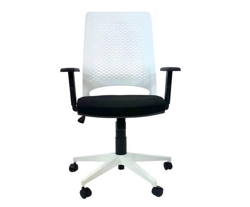 Cadeira de Escritório Ease - Branca, Preto | WestwingNow