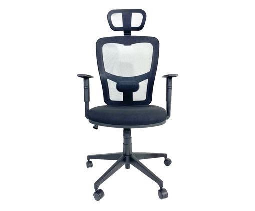 Cadeira de Escritório Porim Maxi - Preta, Preto | WestwingNow