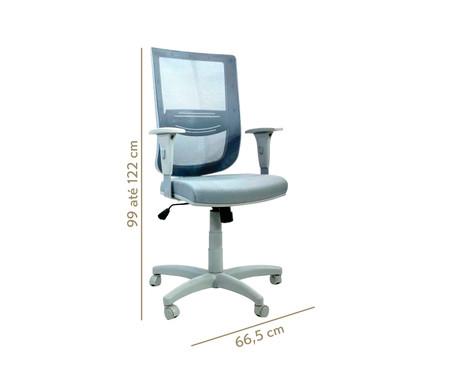 Cadeira de Escritório Vizzonta - Cinza | WestwingNow