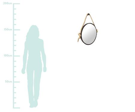 Espelho de Parede com Alça Adnet Liz - Marrom | WestwingNow