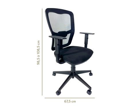 Cadeira de Escritório Porim - Preto | WestwingNow