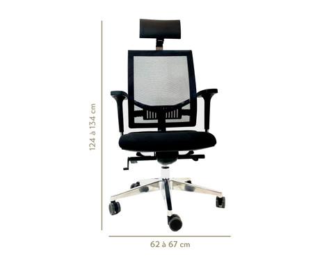 Cadeira de Escritório com Rodízio Marnis - Preto | WestwingNow