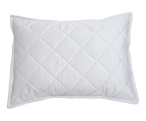 Porta-Travesseiro em Veludo Mat Loss - Gelo, Gelo | WestwingNow