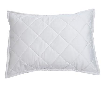 Porta-Travesseiro em Veludo Mat Loss - Gelo | WestwingNow