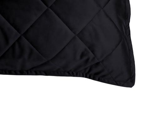 Porta-Travesseiro em Veludo Mat Loss - Preto | WestwingNow