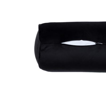 Almofada Rolinho em Veludo Solid - Cinza | WestwingNow