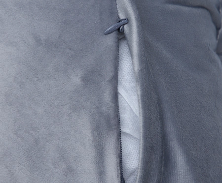 Almofada em Veludo Escama Quad - Cinza | WestwingNow