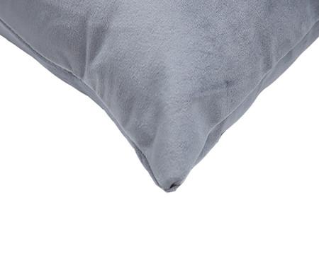 Almofada em Veludo Solid Ret - Cinza | WestwingNow