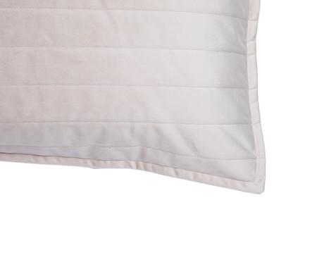 Porta-Travesseiro em Veludo Ripado - Bege | WestwingNow