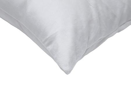 Almofada em Veludo Solid Ret - Gelo | WestwingNow