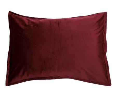 Porta-Travesseiro em Veludo Mat Loss - Vinho | WestwingNow