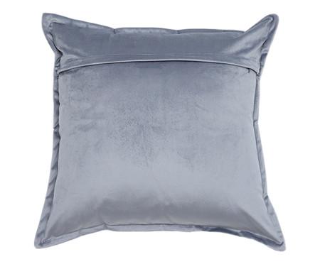 Almofada em Veludo Solid Quad - Cinza | WestwingNow