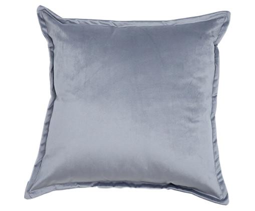 Almofada em Veludo Solid Quad - Cinza, Cinza | WestwingNow