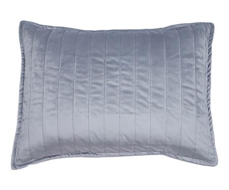 Porta Travesseiro em Veludo Ripado - Cinza | WestwingNow