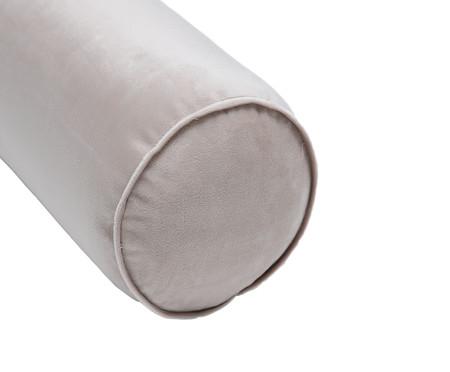 Almofada Rolinho em Veludo Solid - Bege | WestwingNow