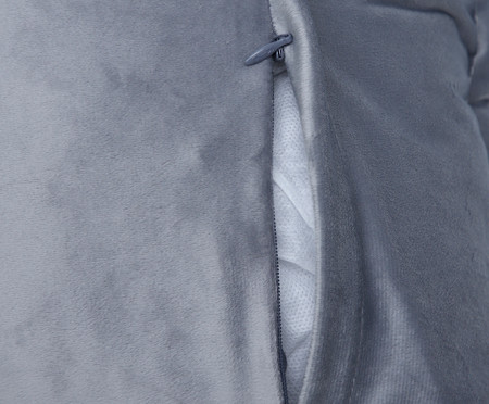 Almofada em Veludo Ripado Quad - Cinza | WestwingNow