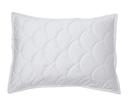 Porta Travesseiro em Veludo Escama - Gelo | WestwingNow