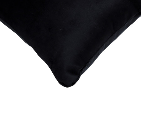 Almofada em Veludo Solid Ret - Preto | WestwingNow