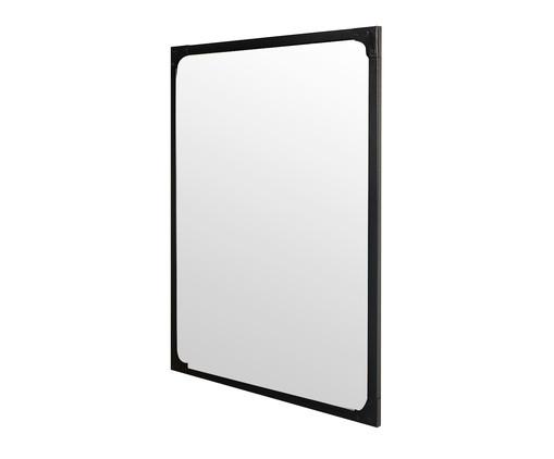 Espelho Retrô Industrial - Preto Fosco, Preto, Espelhado | WestwingNow