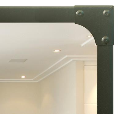Espelho Retrô Industrial - Preto Fosco | WestwingNow