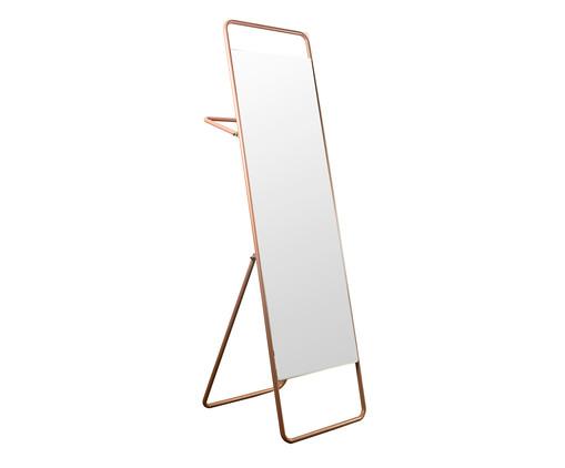 Espelho de Piso com Toalheiro Torian - Salmão, Laranja, Espelhado | WestwingNow