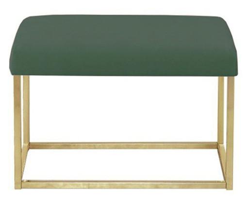 Banquinho em Veludo Glam - Dourado e Verde, Verde | WestwingNow