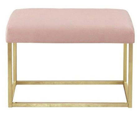 Banquinho em Veludo Glam - Dourado e Rosa | WestwingNow