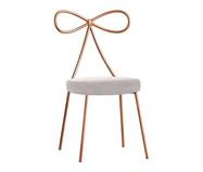 Cadeira em Veludo Lace - Acobreada e Pérola | WestwingNow