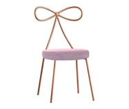 Cadeira em Veludo Lace - Acobreada e Rosa | WestwingNow