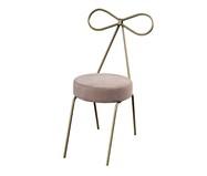 Cadeira em Veludo Lace - Dourada e Pérola | WestwingNow