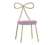 Cadeira em Veludo Lace - Dourada e Rosa | WestwingNow