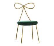 Cadeira em Veludo Lace - Dourada e Verde | WestwingNow