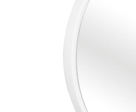 Espelho com Alça Round Effeil - Branco e Caramelo | WestwingNow