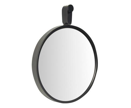Espelho com Alça Round Effeil - Preto, Preto | WestwingNow