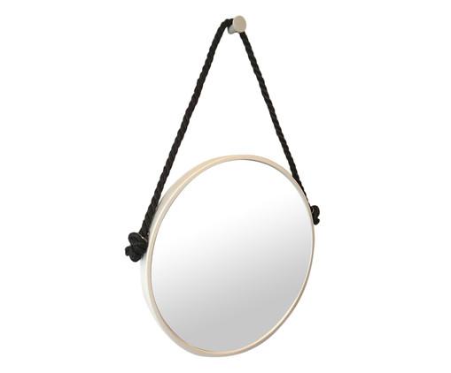 Espelho com Alça Adnet Rope - Branco e Preto, Preto, Branco, Espelhado | WestwingNow