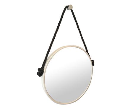 Espelho com Alça Adnet Rope - Branco e Preto | WestwingNow
