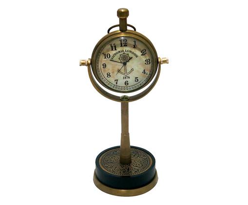 Relógio de Mesa em Metal Luiz - Bronze, Bronze,Branco | WestwingNow