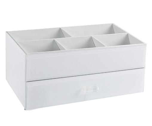 Caixa Organizadora para Maquiagens de Vidro Sabrina - Branca, Branca | WestwingNow